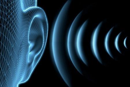 Волны звука летят в ухо