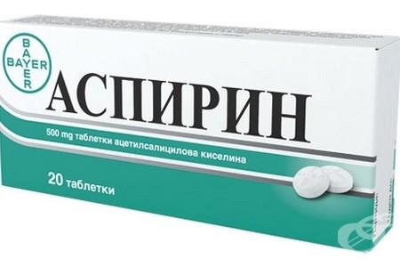 Упаковка средства Аспирин