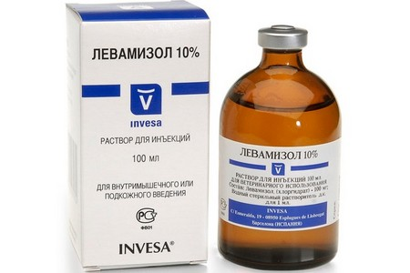 Упаковка и банка средства Левамизол