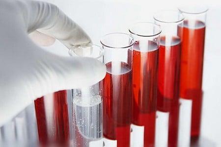 Колбы с кровью