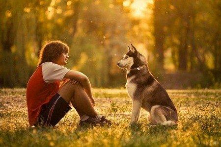 Человек с собакой