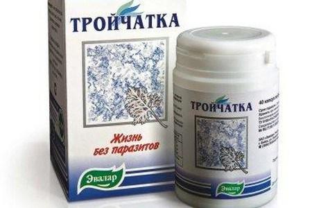 Упаковка и банка средства Тройчатка Эвалар