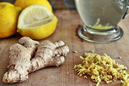 Лимон, корень и стружка