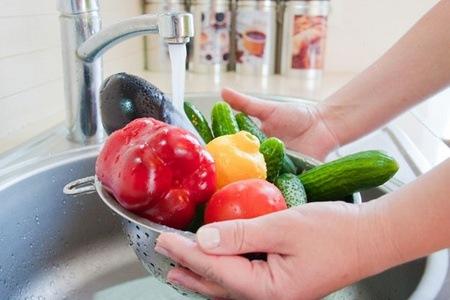 Чистые фрукты и овощи